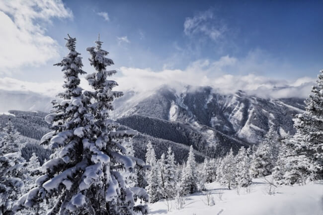 Aspen Highlands photographed frpm Aspen mountain with the Zeiss 18mm Batis lens on the Sony A7s.